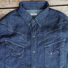 #kapital Lighting Western #denim shirt. Kachow!