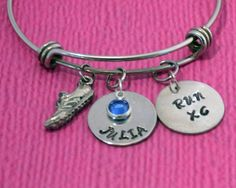 Cross Country Jewelry | Runner Gifts | Marathon Gift | Cross Country | Runner Bracelet | Cross Country Bracelet | Gift for Runners | Running by charmedbykobe on Etsy