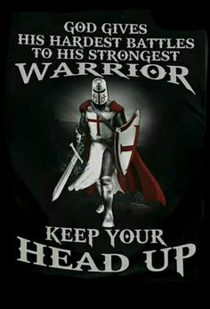 God gives His hardest battles to His strongest Warrior Christian Warrior, Christian Life, Christian Quotes, Warrior Quotes, Prayer Warrior, Christian Soldiers, Crusader Knight, Templer, Armor Of God