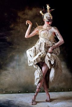 Tim Walker. This is probably one of the most literal/still really absurdist ideas of what a post-war Trojan Woman might look like. The dress is really very Greek, but so beautifully broken and torn.