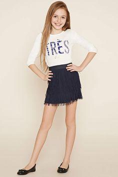 Girls Fringed Skirt (Kids)   Forever 21 girls - 2000185967