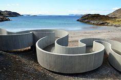 Reiulf Ramstad Arkitekter - Tourist route in Finnmark, NORWAY Architecture Design, Amazing Architecture, Landscape Architecture, Landscape Design, Architecture Journal, Norway Landscape, Contemporary Architecture, Concrete Structure, Concrete Pathway