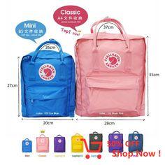 Size difference in Kanken mini and kanken kids Kanken Backpack Mini, Kanken Mini, Rucksack Bag, Mochila Kanken, Backpack Outfit, School Essentials, Cute Bags, Backpacker, Maxis