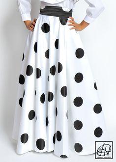 Floor Length High Waist Swing Skirt