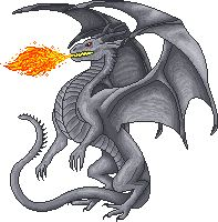 Ukrainian Ironbelly Dragon Sprite I made for a Harry Potter Fansite...