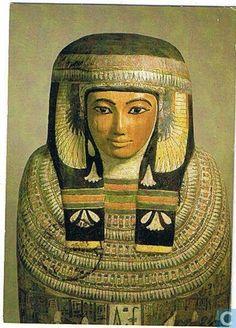 Mummiekist van Tachateroe, beschilderd hout, Thebe (Egypte), Rijksmuseum van Oudheden Leiden