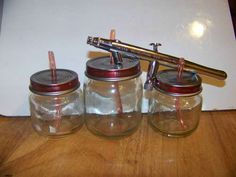 Well SHIT the bed! After allll my bitchin' & fussin' about how expensive these are... Especially after one falls off and breaks! (cheap & easy airbrush paint jars)