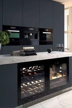 12 Nice Ideas for Your Modern Kitchen Design black kitchen units interior design Cabnits Kitchen, Kitchen Stove, Kitchen Units, Kitchen Layout, Ikea Kitchen, Kitchen Pantry, Kitchen Appliances, Kitchen Ideas, Kitchen Decor