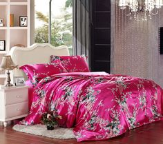 The Peacock In The Flowers Red Silk Duvet Cover Set Silk Bedding Bed Sheets Online, Cheap Bed Sheets, Cheap Bedding Sets, Bedding Sets Online, King Bedding Sets, Luxury Bedding Sets, Black Bed Linen, Matching Bedding And Curtains, Silk Bedding
