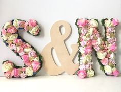 Large Floral Letter for Girl; Large Flower Letter; Nursery Wall Letter for Girl; Wall Letter for Girls Room; Shabby Chic Nursery Wall Letter by VivasFlowerShop on Etsy