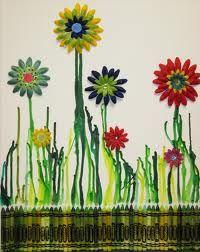 Flower Crayon Art