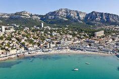 La plage de la Pointe Rouge à Marseille