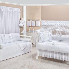 Branco: paz, calma, pureza, limpeza e inocência Quarto completo Encantos Lese: http://www.graodegente.com.br/quarto-completo/quarto-para-bebe-encantos-lese-branco/?utm_source=pinterest&utm_medium=board&utm_campaign=cores-branco