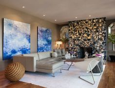 Modern Living Room -  Seacliff House