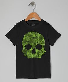 Black Clover Skull Tee - Toddler - Goodie Two Sleeves