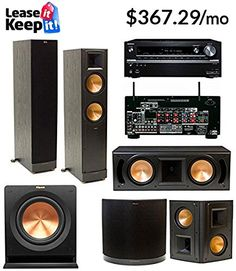klipsch home theater system. klipsch rf-62ii 5.1 home theater system-free r-110sw -onkyo system g