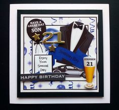 #Personalised Male 18th 21st #Birthday Card 30th Son #Grandson Nephew Friend Cous, View more on the LINK: http://www.zeppy.io/product/gb/3/239176305/