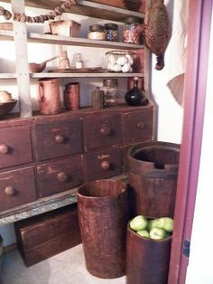 Barrels, Grains, Buckets, Pantry, Pantry Room, Butler