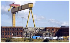 This picture shows the other huge crane covering the Belfast skyline.
