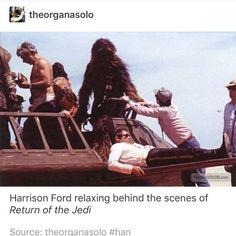 Casual Harrison Ford Return of The jedi Han Solo Chewbacca fandom geek nerd Chewie Lucas movies Theme Star Wars, Star Wars Love, Star War 3, Star Wars Cast, Star Trek, Saga, The Force Is Strong, Harrison Ford, Star Wars Humor
