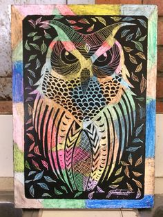 ESGRAFIADO Arte Elemental, Zebra Art, Oil Pastel Art, Scratch Art, Sgraffito, Summer Art, Art Techniques, Art Lessons, Art For Kids