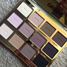 Tarte matte amazonian clay palette. Perfect matte colors for work. I can't really wear anything too sparkly at work, so this 4 toned pallette is amazing!