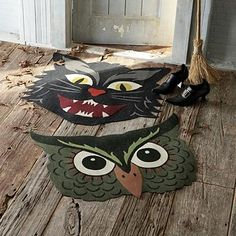 floor mats from Martha Stewart's Halloween line