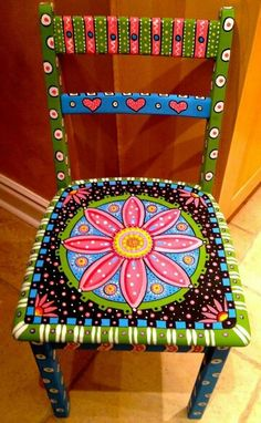 Home Decorating Ideas Vintage old chairs decorate old furniture spice upcycling ideas diy ideas decoration ideas alte stuehle dekorieren alte moebel aufpeppen upcycling ideen diy ideen deko ide … Home Decorating Ideas Vintage Whimsical Painted Furniture, Hand Painted Chairs, Hand Painted Furniture, Paint Furniture, Furniture Makeover, Furniture Stores, Furniture Outlet, Painted Rocking Chairs, Painted Tables