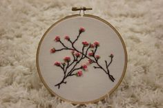 Embroidery Hoop Art. Beautiful Cherry Tree Pink Springtime Blossoms, by ImagineArtworx