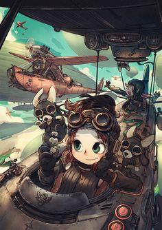 girl pilots on Behance