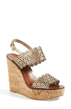 Tory Burch 'Daisy' Platform Wedge Sandal (Women) available at #Nordstrom