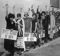 Wampas Baby Stars of 1924 - Clara Bow is at the front.