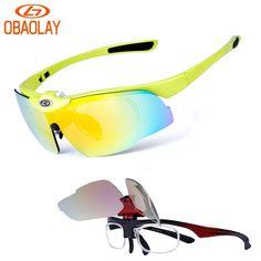 6c537530988 OBAOLAY Bicycle Eyewear Polarized Cycling Glasses Sport Bike Goggle Gafas  Occhiali Ciclismo Flip Lens myopia Frame