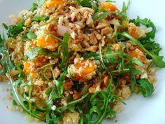 Salada de Couscous, Abóbora-Manteiga e Rúcula Selvagem