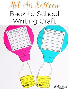 This back to school writing craft is perfect for your learners to write about their hope for the new year! After discussion writing conventions, students will display that they are able to use spaces and punctuation with their writing through this back to school craft!