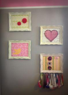 Nursery / Girls Room Framed 3D Art