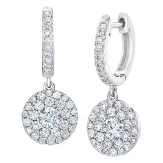 Fine Earrings Amatista Violeta 14k Oro Blanco Macizo Lágrima Forma Pendientes Largos Terrific Value