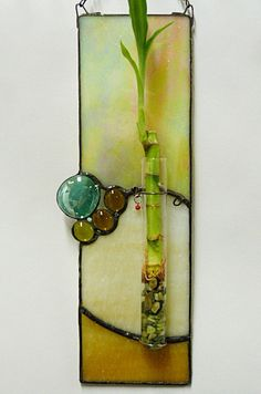 Beautiful Irridesent Gold and Cream Stained Glass by miloglass, $35.00