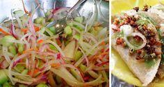 """Una de las salsas más exquisitas y picantes que suele acompañar a los tacos al vapor, o los tacos de barbacoa. Su sabor es irresistible, pero no todos la pueden consumir, debido a que es muy picante o """"enchilosa"""" tal como lo decimos en Jalisco. Ingredientes: 6 chiles habaneros picadosfinamente 6 pepinos (pelados y picados…"""