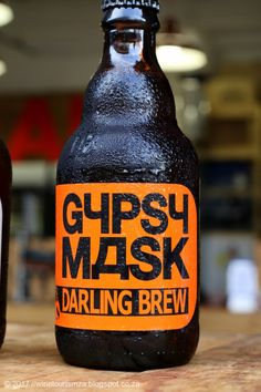 Darling Brew's Gypsy Mask is an assertive rusty brown ale with plenty spicy hopping. An impressive beer leaving your mouth filled with a range of flavours. Beer Industry, Craft Beer, Brewery, Beer Bottle, Gypsy, Spicy, Presents, African, Range