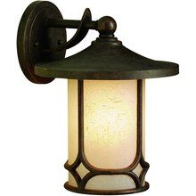 View the Kichler 9366 Asian Themed 1 Light Outdoor Wall Sconce from the Chicago Collection at LightingDirect.com.$172.00   13 inches