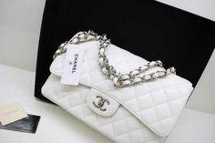 Chanel Bag White Silver 36076