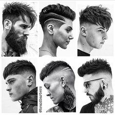 Image may contain: 6 people Mens Haircuts Quiff, Hairstyles Haircuts, Haircuts For Men, Beard Haircut, Fade Haircut, Hair And Beard Styles, Curly Hair Styles, Hear Style, Gents Hair Style