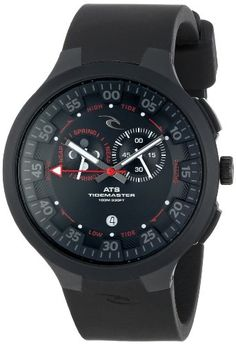 SAVE $5.05 - Rip #Curl Men's A1103 - BLK K38 Tidemaster Silicone Black Analog Tide Surf Watch $194.95