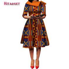New Vintage African Women Patchwork Bow knot A line Dresses Ankara Clothes Bazin Rihce African Print Dresses for Women 2 - AliExpress Best African Dresses, Latest African Fashion Dresses, African Attire, African Print Clothing, African Print Fashion, Ankara Clothing, Style Africain, Pretty Prom Dresses, Ankara Dress