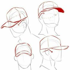 art reference Hat Drawing Reference Backwards 16 Ideas For 2019 Drawing Techniques, Drawing Tutorials, Drawing Tips, Art Tutorials, Drawing Ideas, Painting Tutorials, Poses References, Drawing Base, Cap Drawing