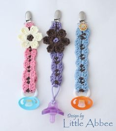 Crocheting: Pacifier Clip  Need this for little baby Meyer #2