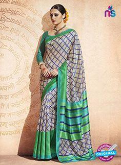 Sea Green and Grey Bhagalpuri Silk Saree Cotton Sarees Online Shopping, Silk Sarees Online, Cotton Silk, Green And Grey, Blouse Designs, Sari, Princess Zelda, Clothes For Women, Unique