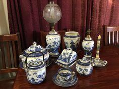 Blue Chinaware, Shabby Chic Uk, Love Blue, Blue And White, Willow Pattern, White Dishes, White Stuff, White China, Tea Sets