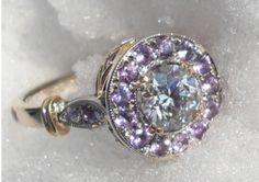 Non Diamond Engagement Rings Purple Stones 38 Non Diamond Engagement Rings, Engagement Ring Carats, Diamond Rings, Purple Sapphire, Purple Diamond, Mother Rings, Pretty Rings, Unique Rings, The Ordinary